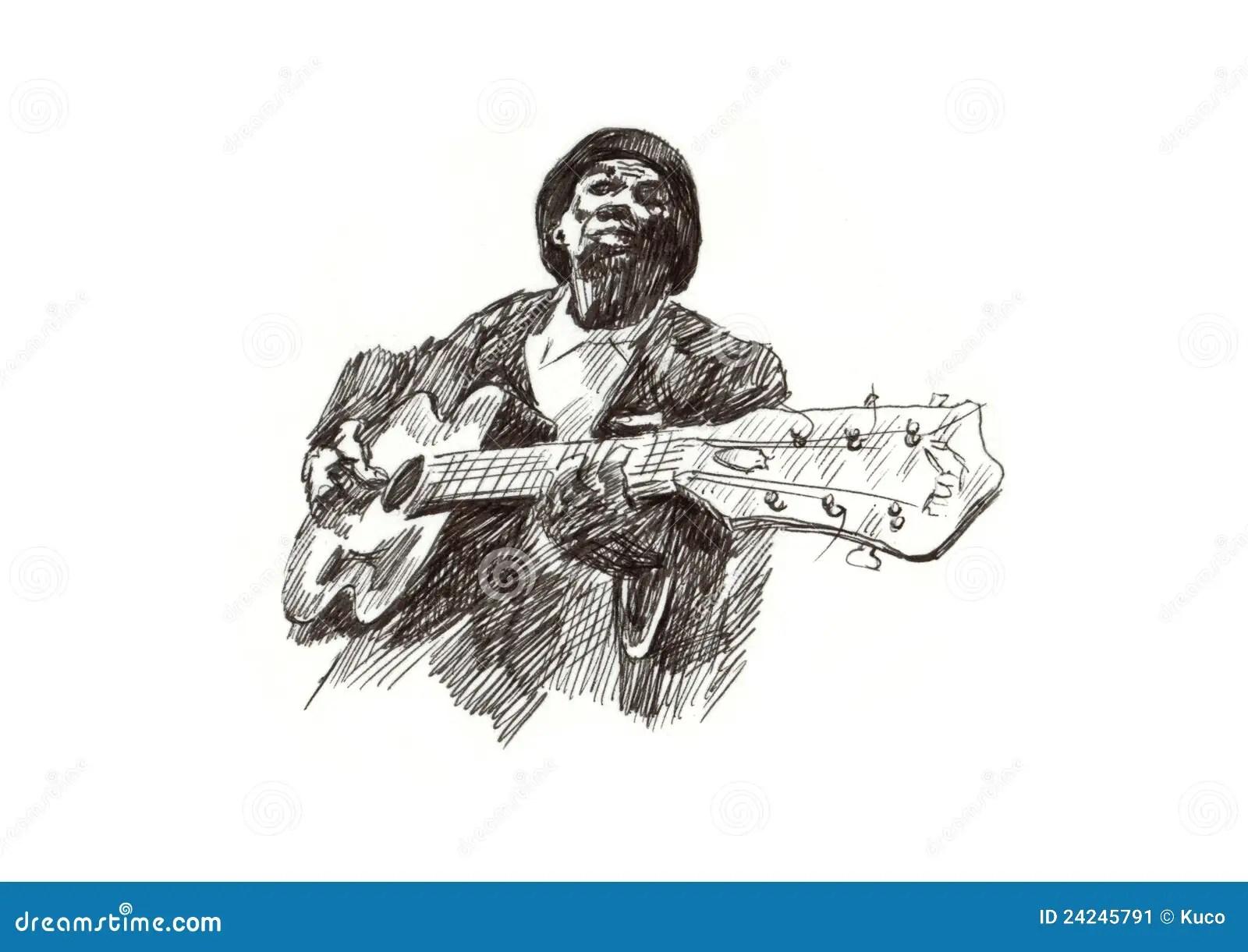 Blues Man Stock Image
