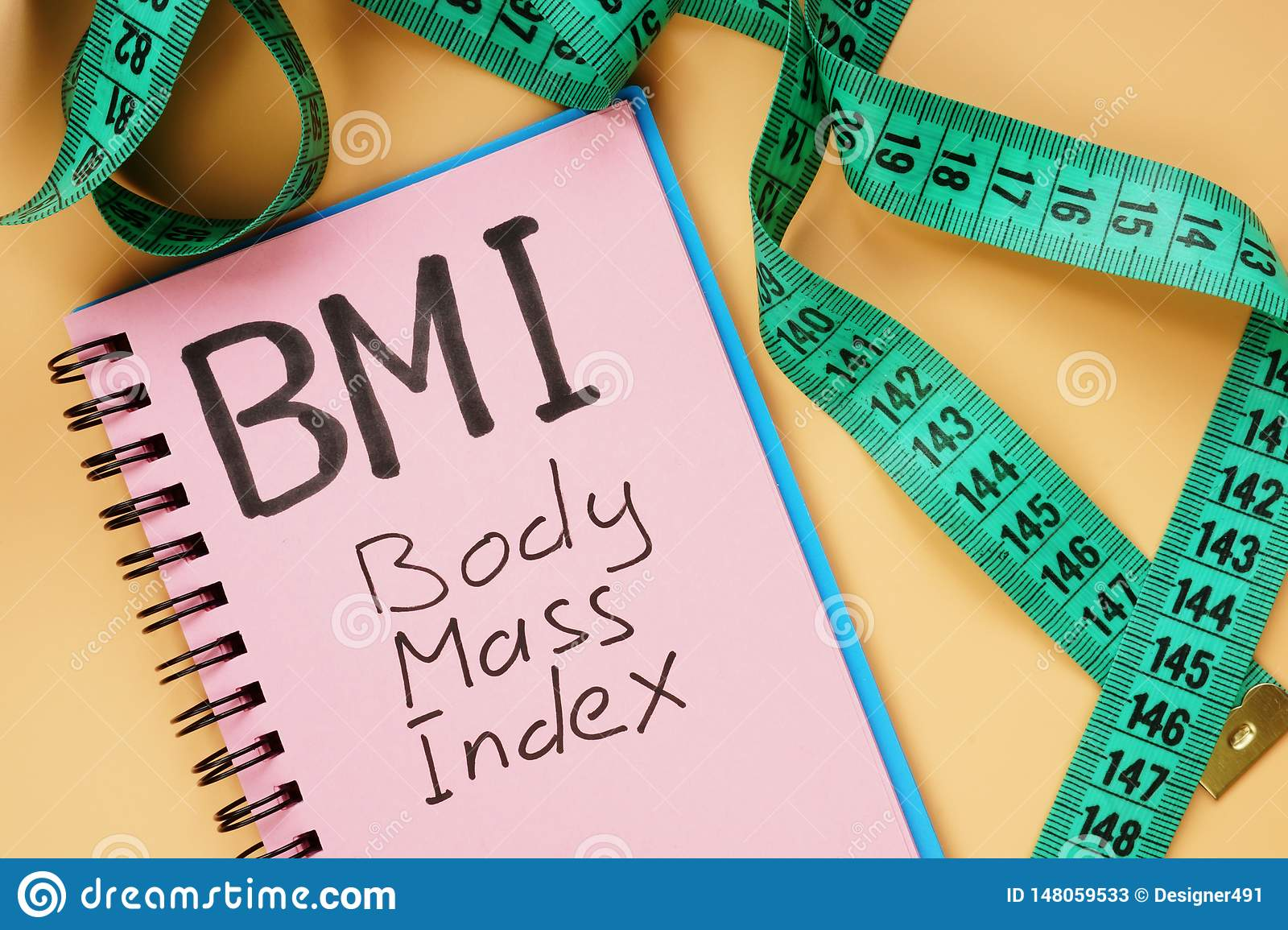 Bmi Body Mass Index Sign And Measuring Tape Stock Image