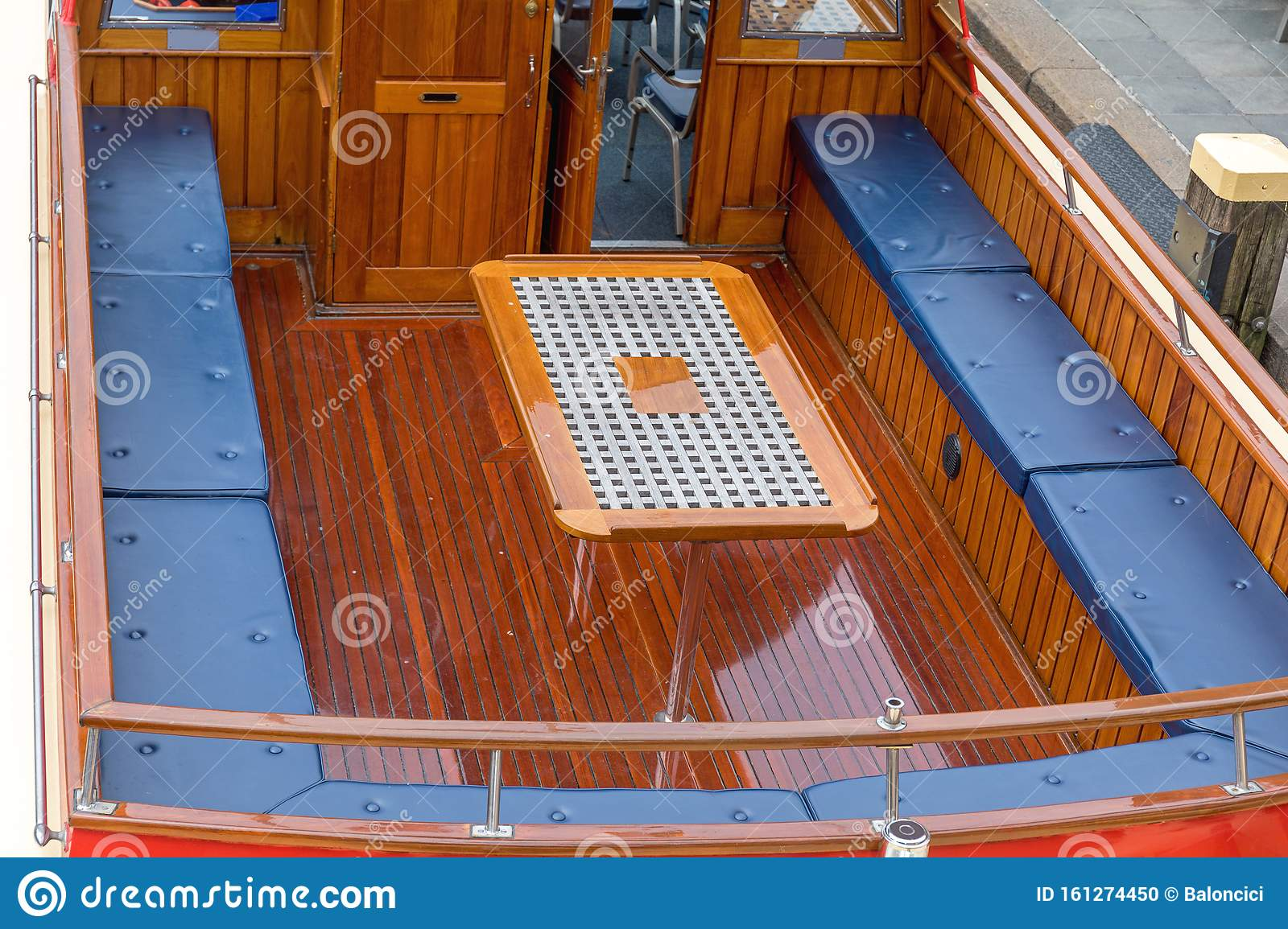 Boat Deck Seating Stock Photo Image Of Vessel Seating 161274450