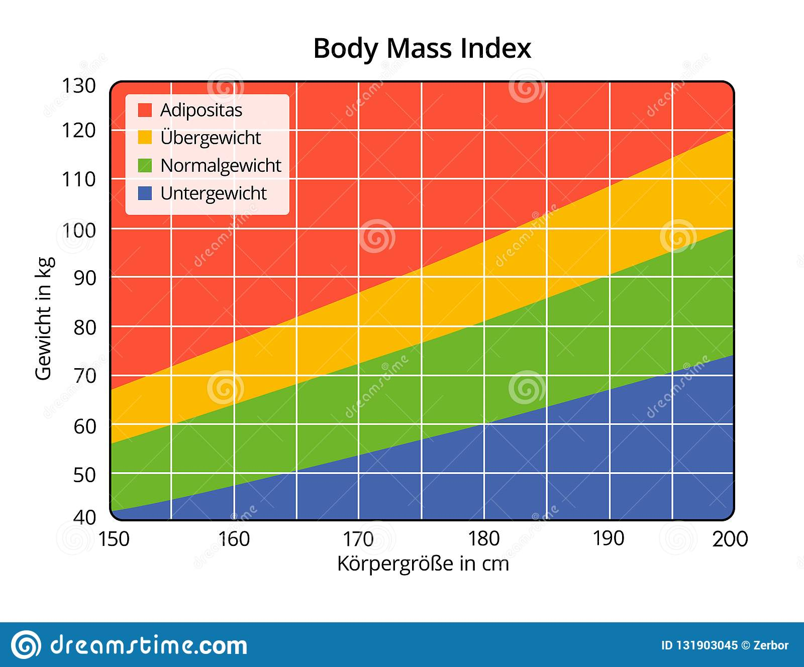 Body Mass Index In Cm And Kg German Labeling Stock