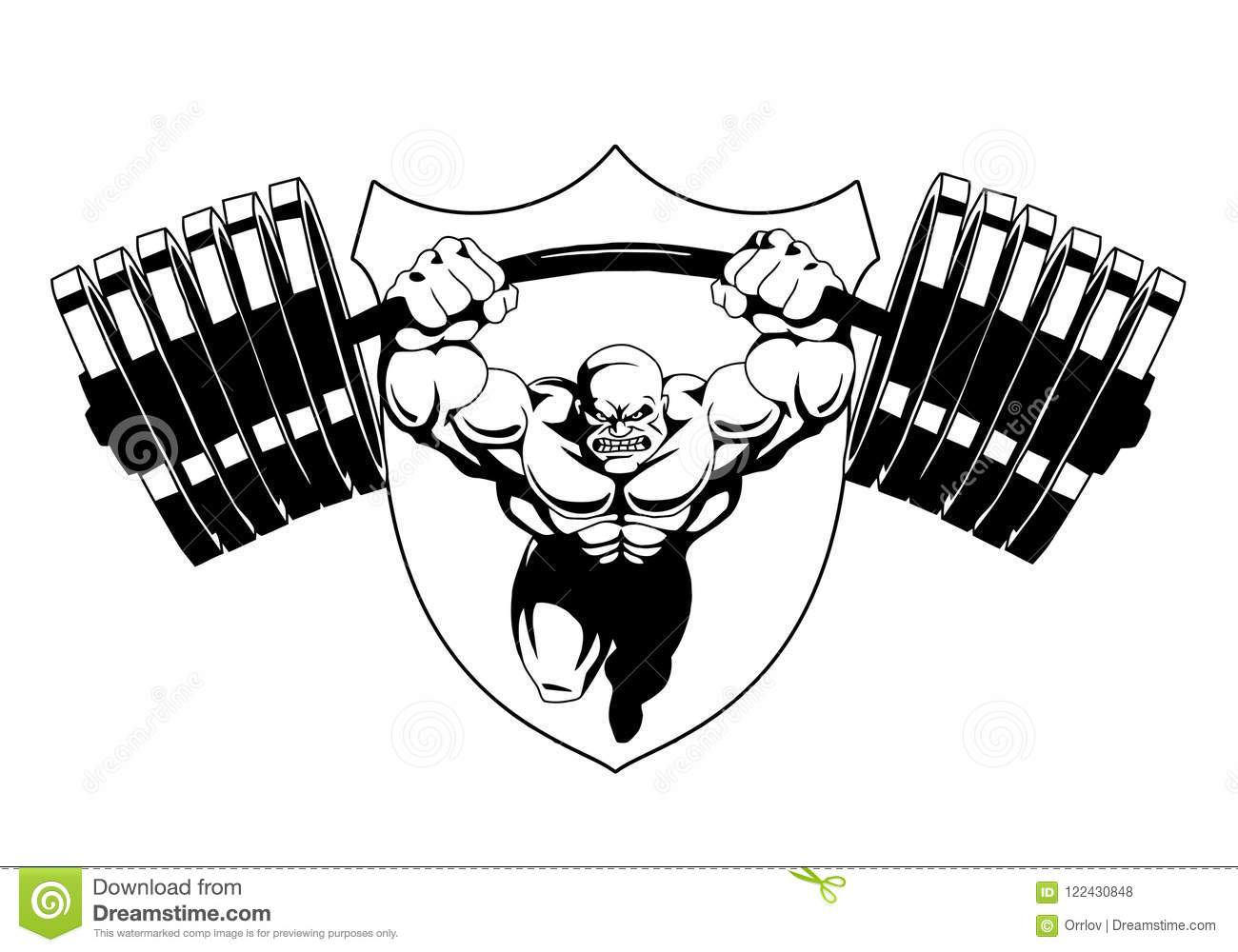 Black And White Logo Design Black And White Bodybuilding Logo