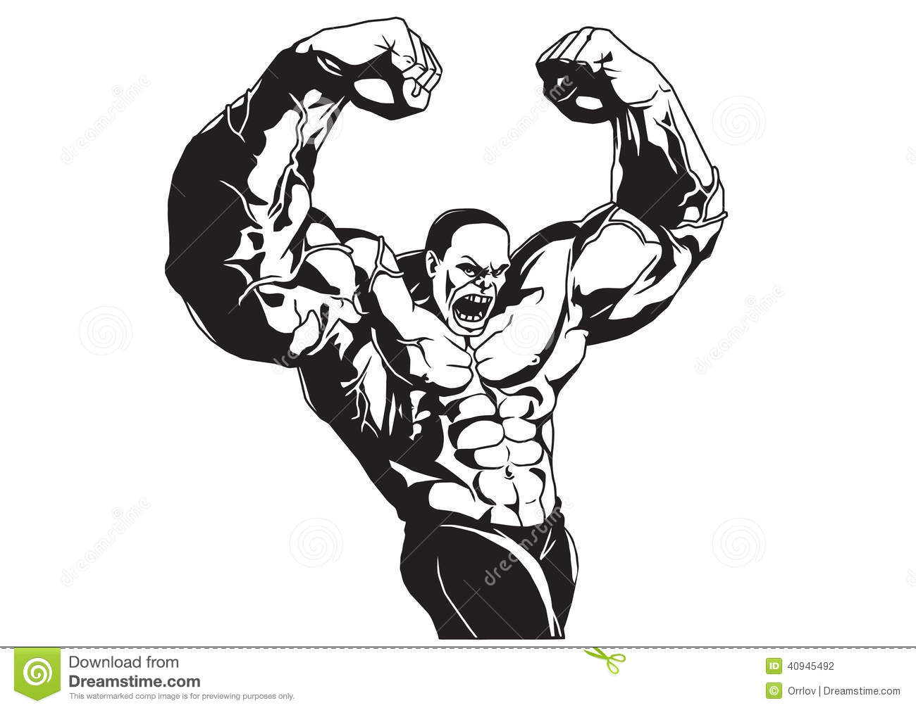 Bodybuilder Poses Stock Vector Illustration Of Mass