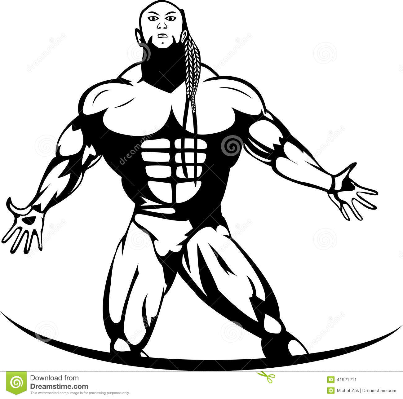 Silhouette Of A Professional Bodybuilder Stock Vector