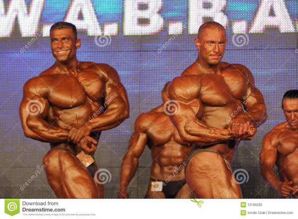 Bodybuilders Posing Editorial Photo - Image: 12166226