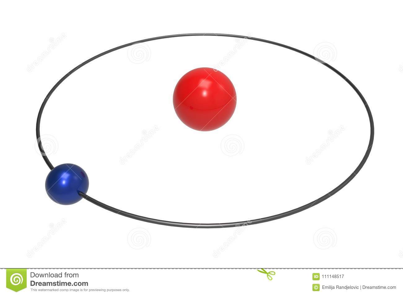 Bohr Model Of Hydrogen Atom With Proton Neutron And