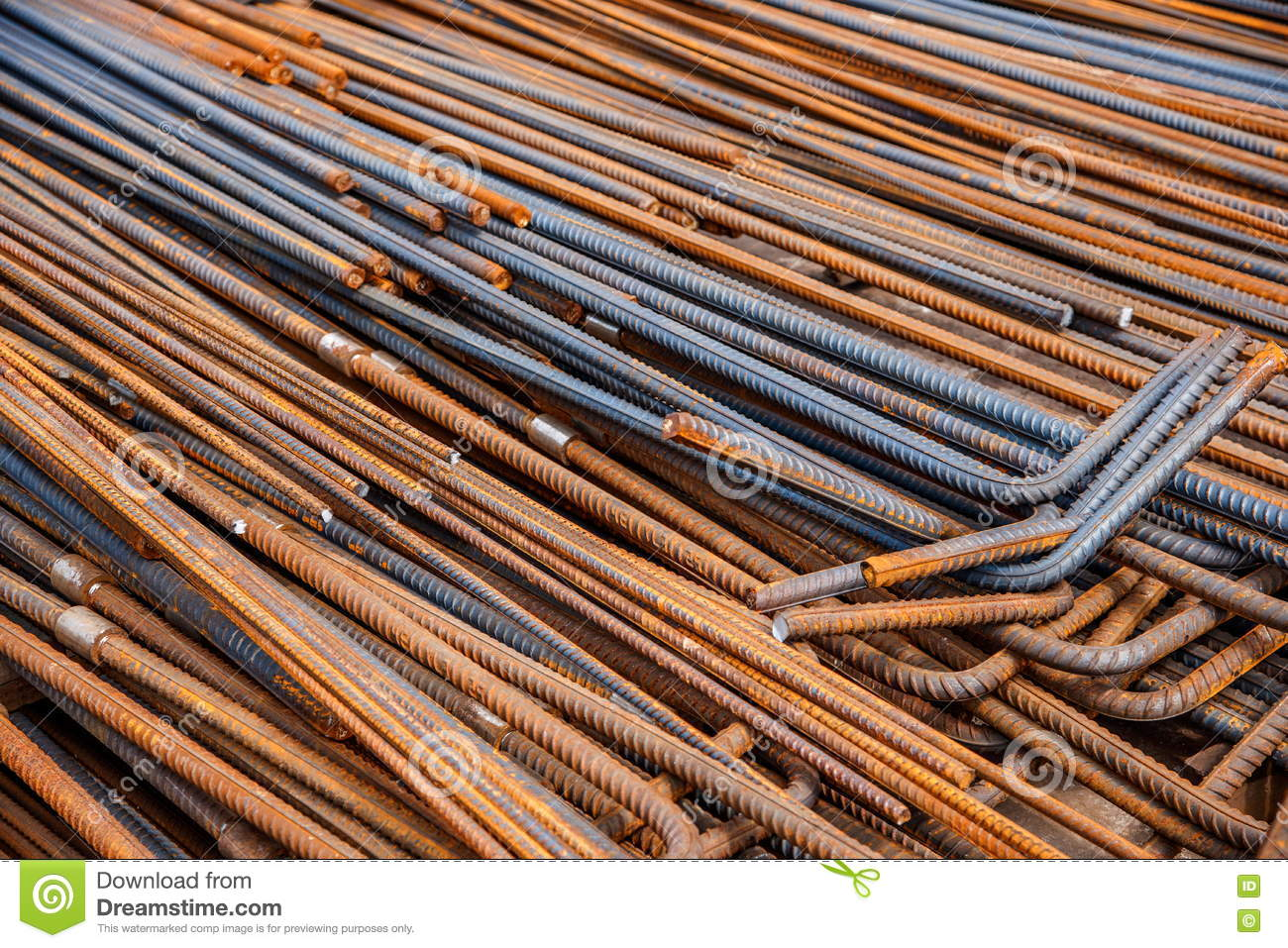 Bolted Steel For Building Construction Stock Photo