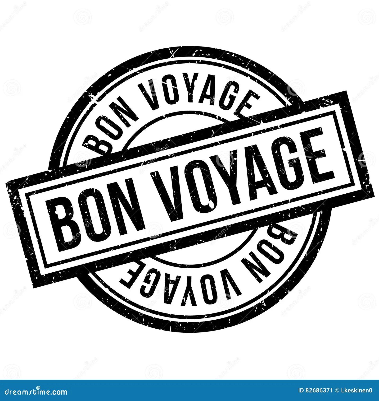 Bon Voyage Rubber Stamp Stock Illustration Image Of Label