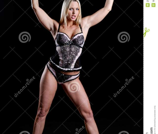 Bondage Style With A Beautiful Woman In Lingerie