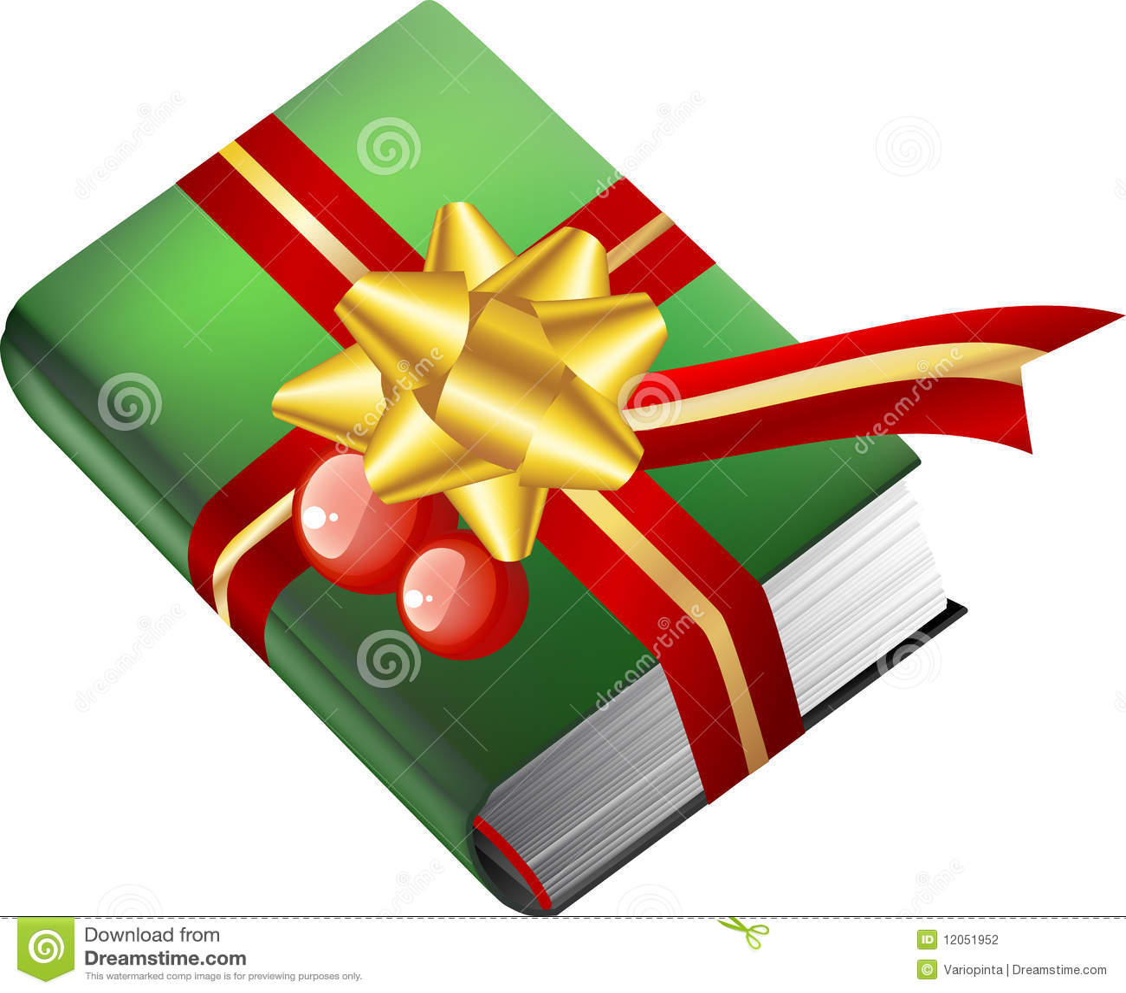 Book Gift For Christmas Stock Photography Image 12051952