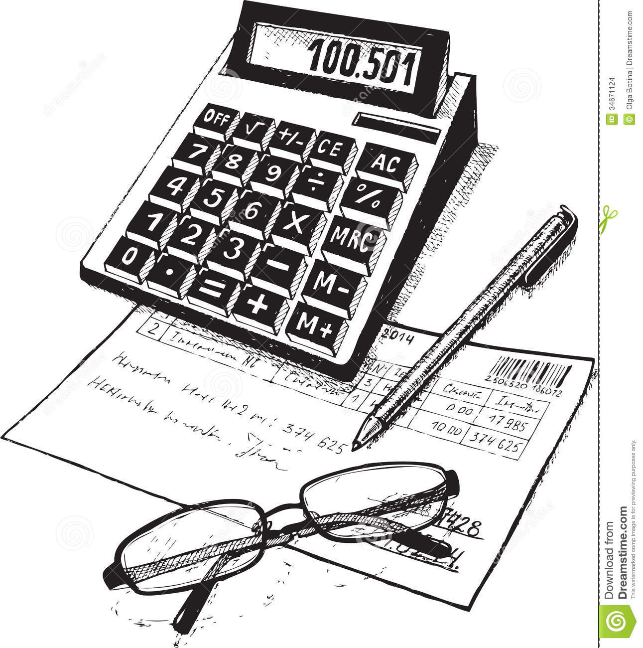Bookkeeper Stock Vector Illustration Of Signature