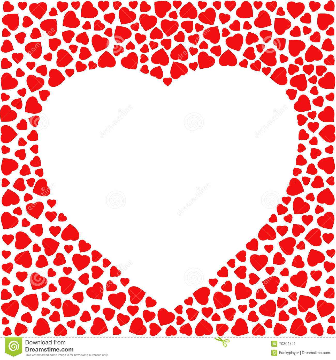 Vector Valentine Card With Heart Shapes Vector Illustration