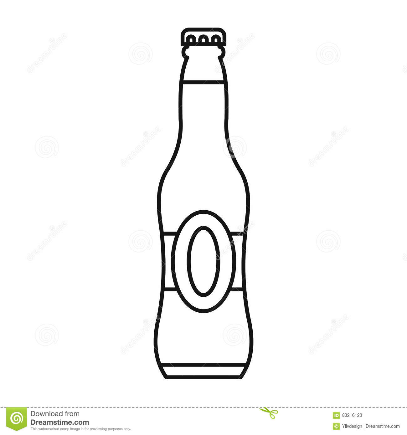 Bottle Of Beer Icon Outline Style Stock Vector