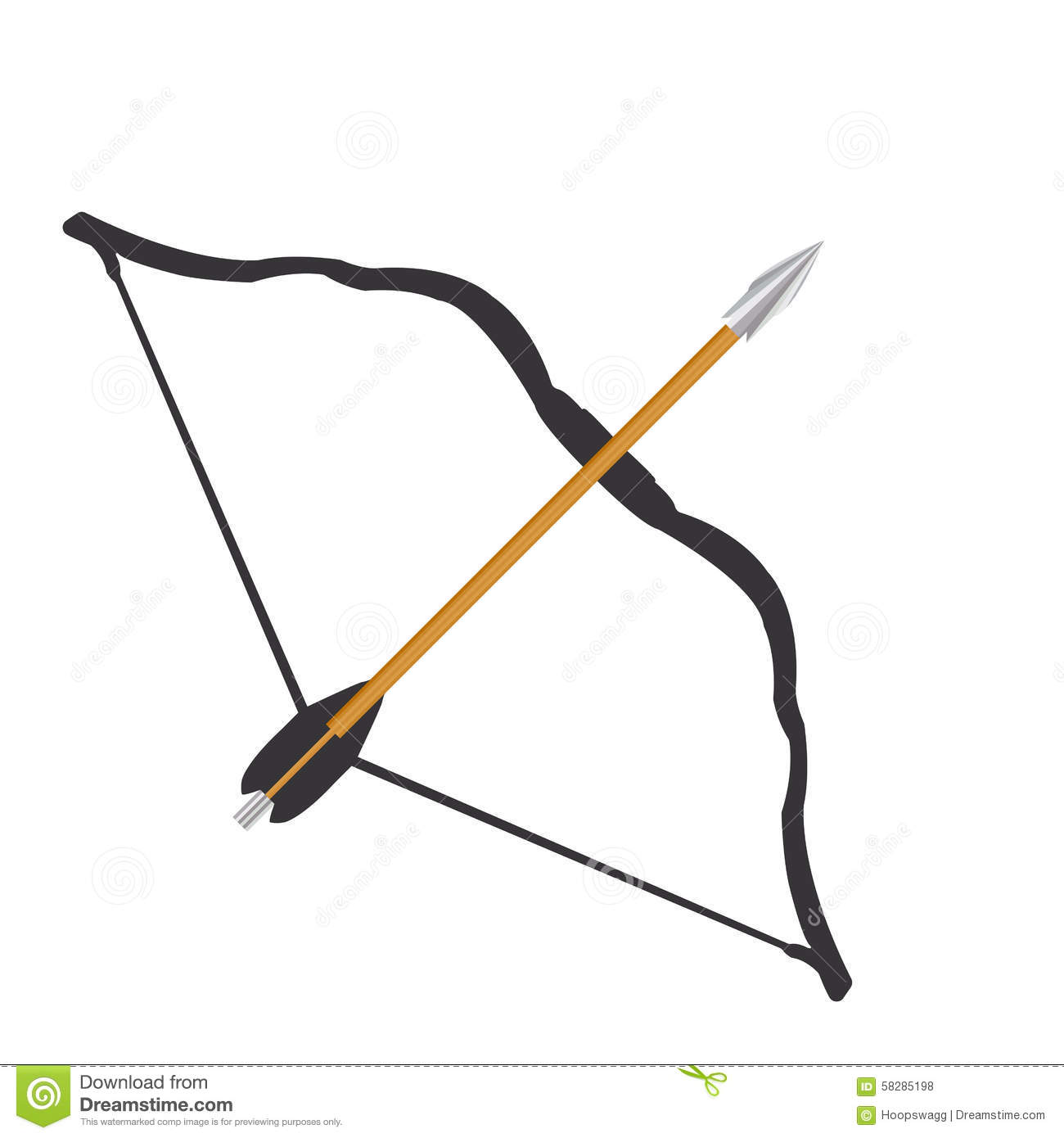 Bow And Arrow Graphic Stock Illustration Illustration Of