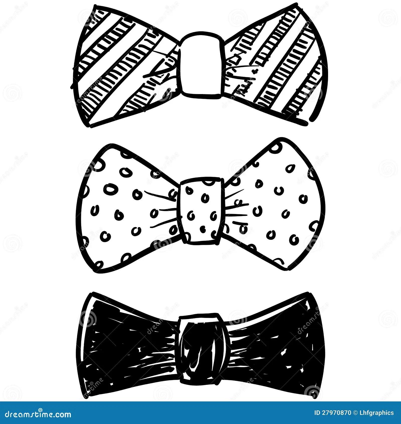 Bow Tie Selection Sketch Stock Vector Image Of Vector