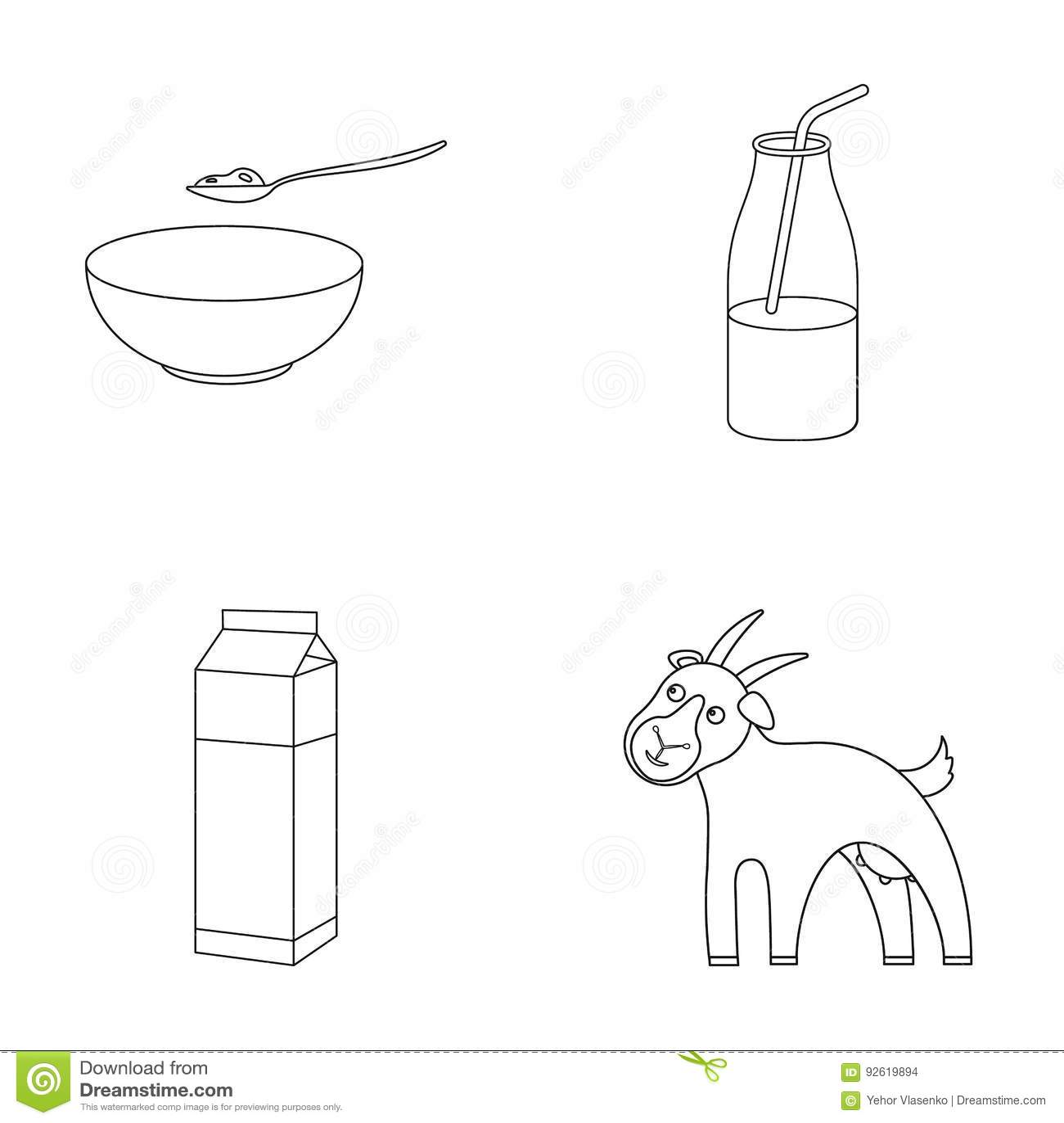 Goat Set Vector Vector Illustration