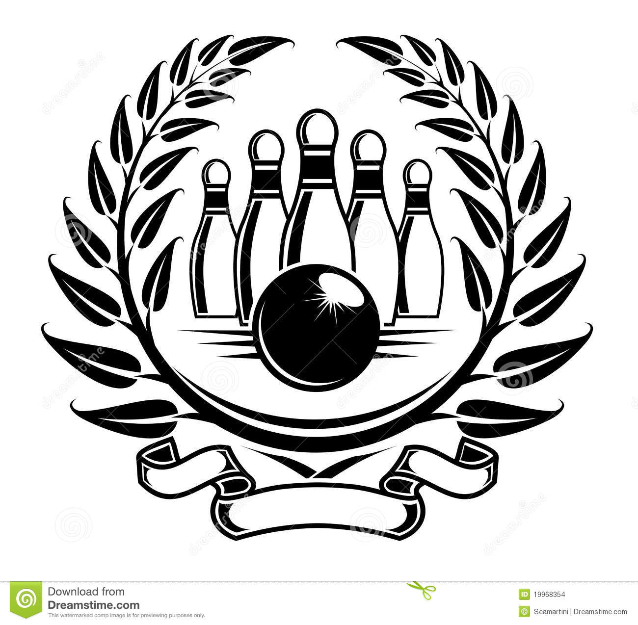 Bowling Symbol Stock Images