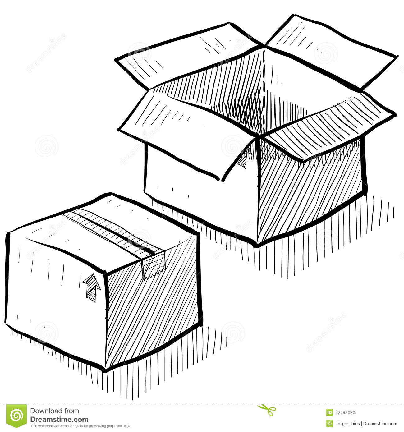 Box Shipping Or Packaging Illustration Stock Vector
