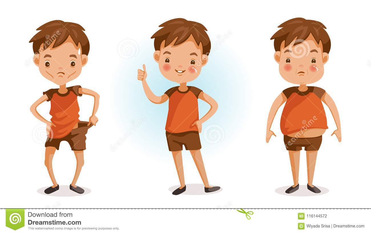 Fat And Thin Stock Vector Illustration Of Illustrations