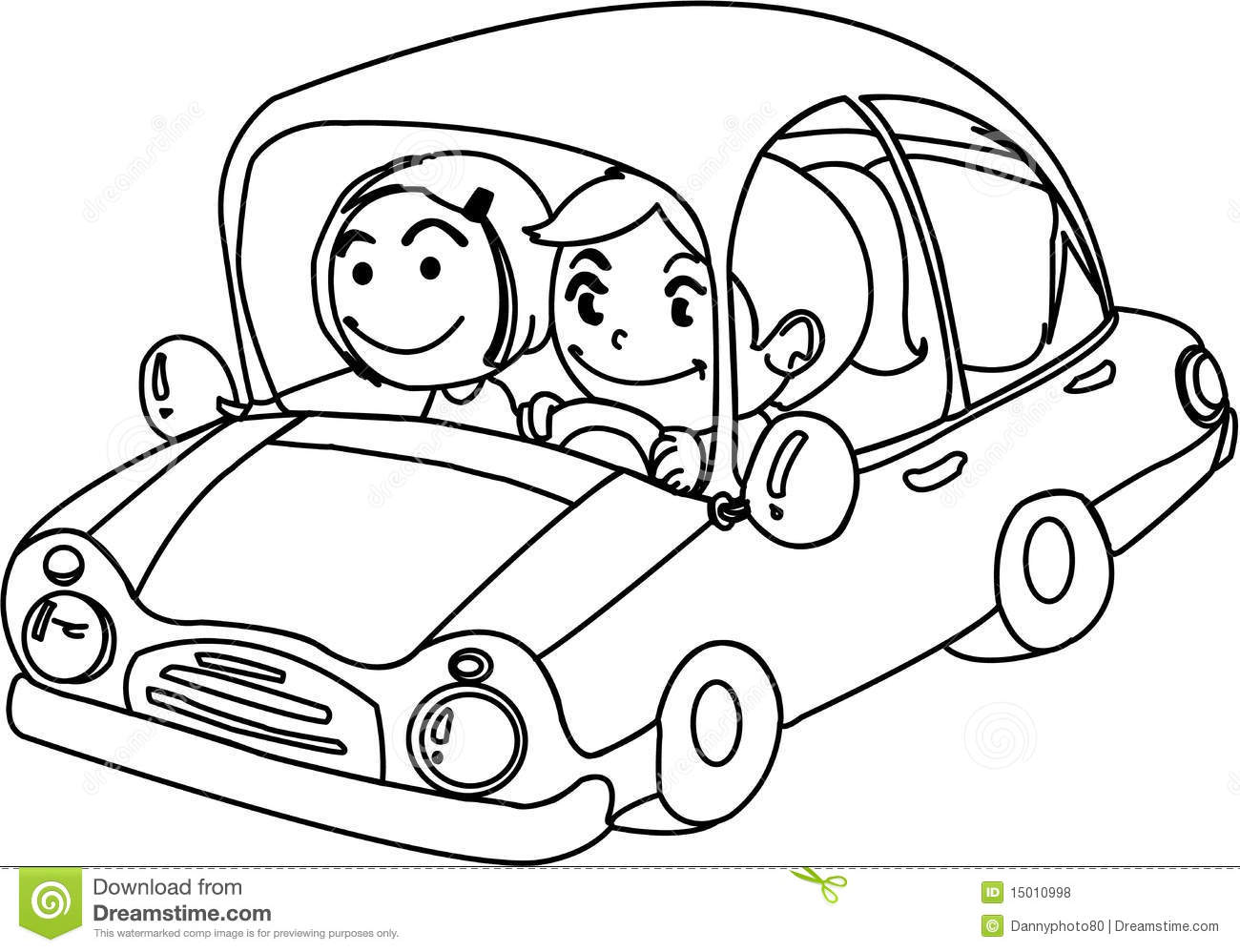 A Boy And Girl In Car Stock Vector Image Of Graphic