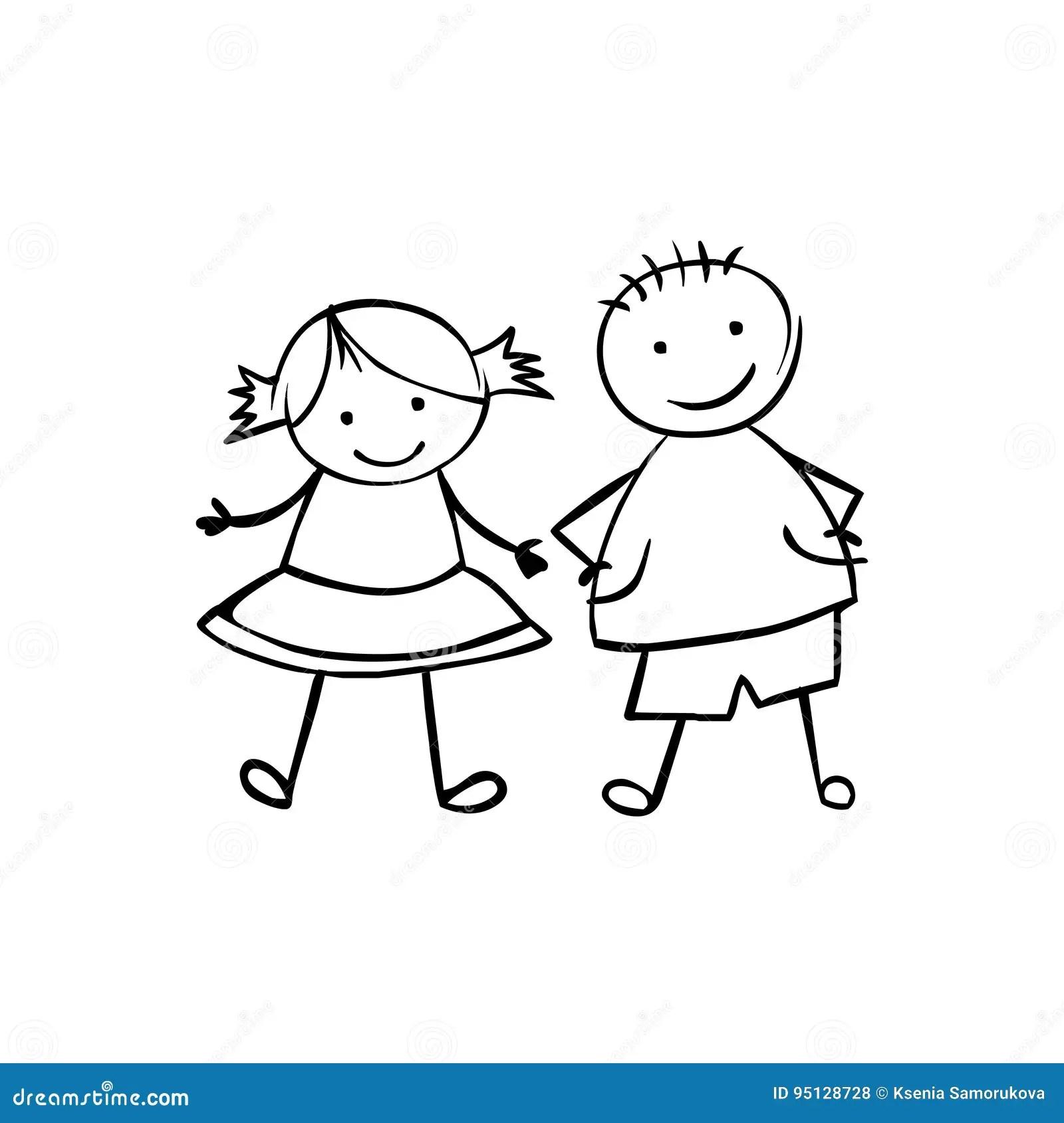 Boy And Girl Vector Couple Stock Vector