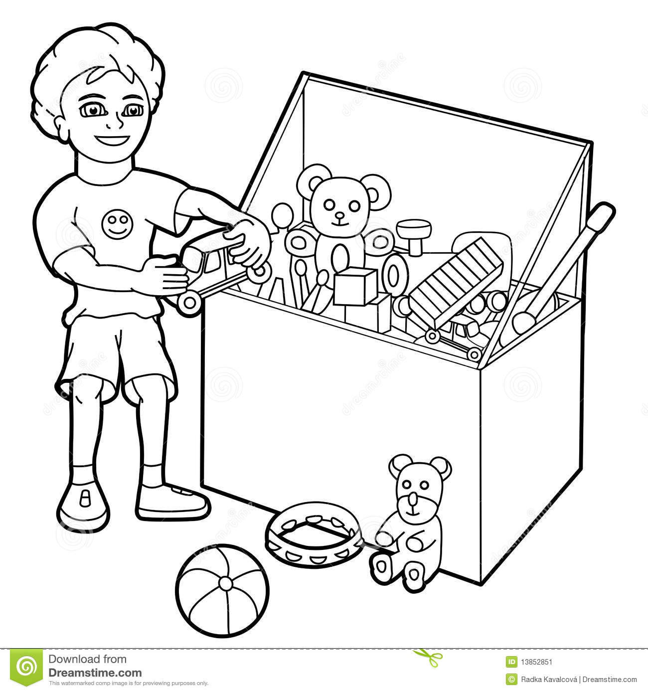 Boy Playing With Toys Stock Vector Image Of Cute Little