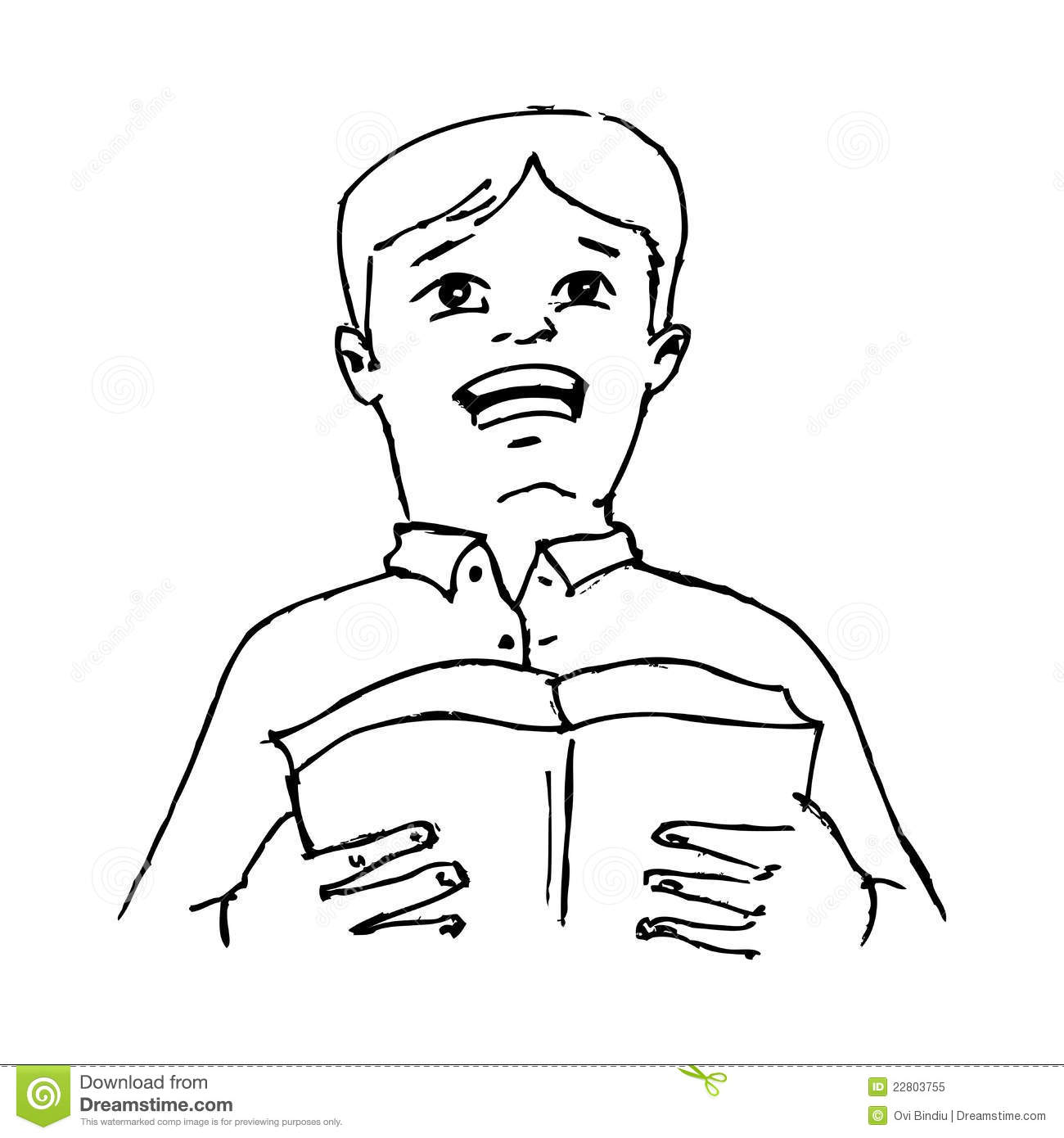 Boy Reading A Poem From A Book Royalty Free Stock Photo