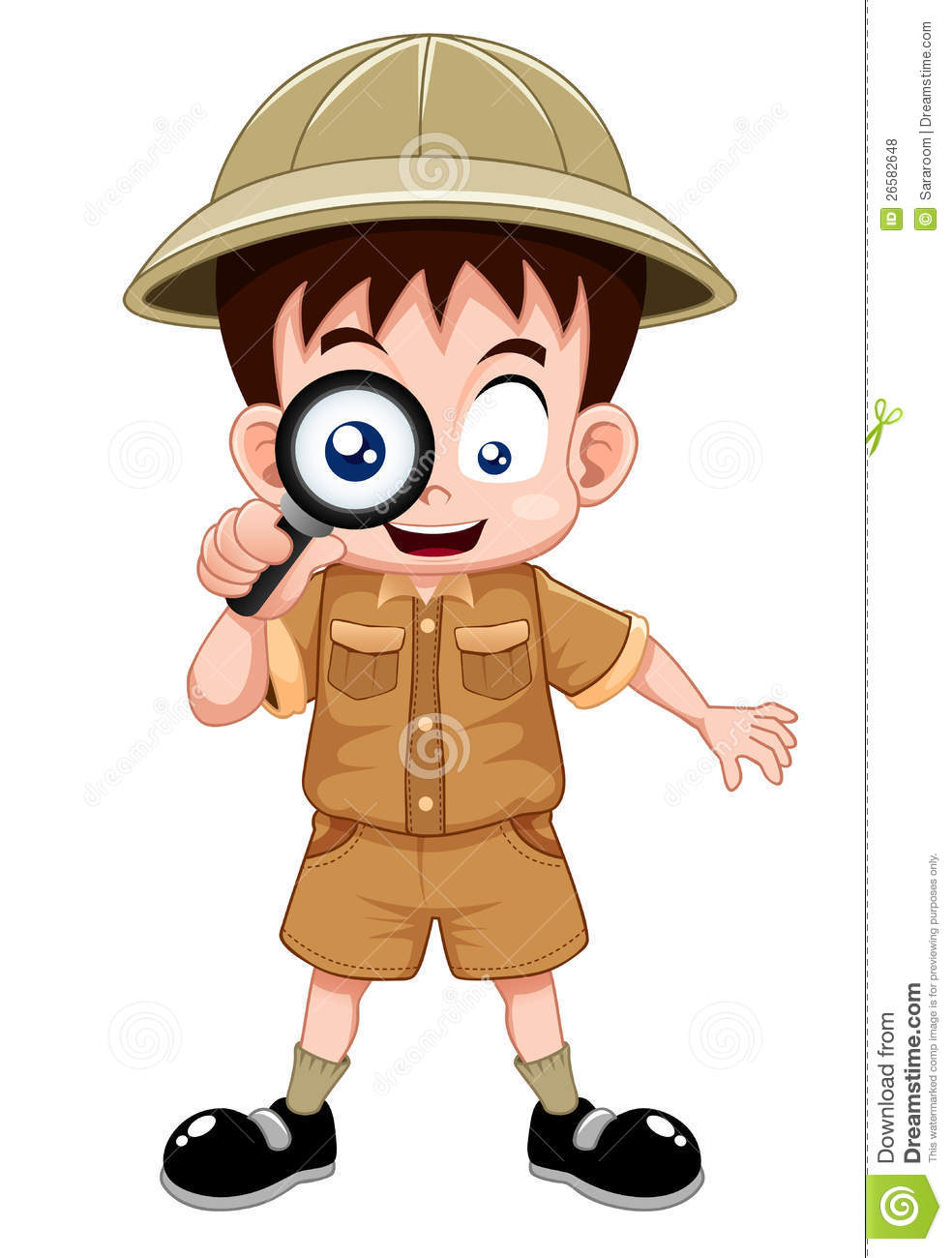 Boy Scout Stock Vector Illustration Of Talking