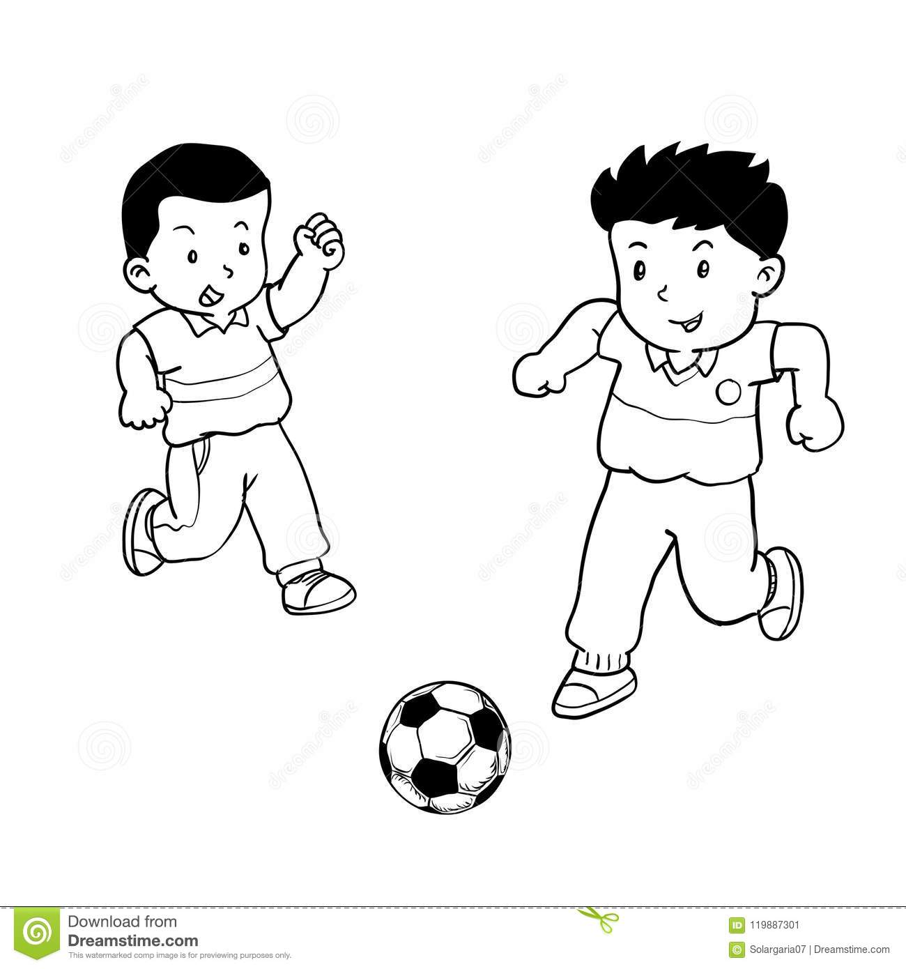 Playing Soccer Stock Illustrations 9 079 Playing Soccer