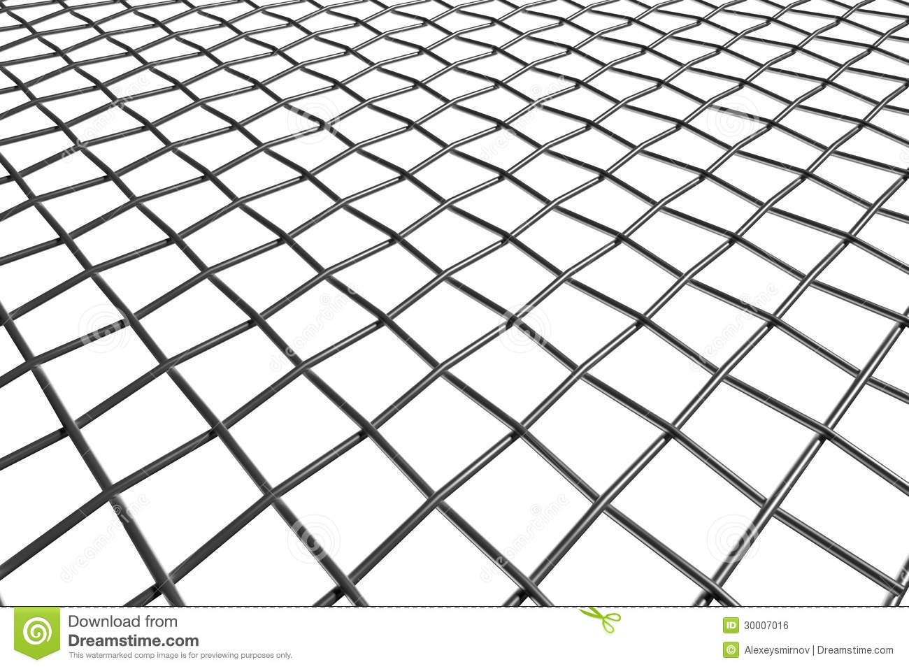 Braided Wire Steel Net In Perspective View Royalty Free