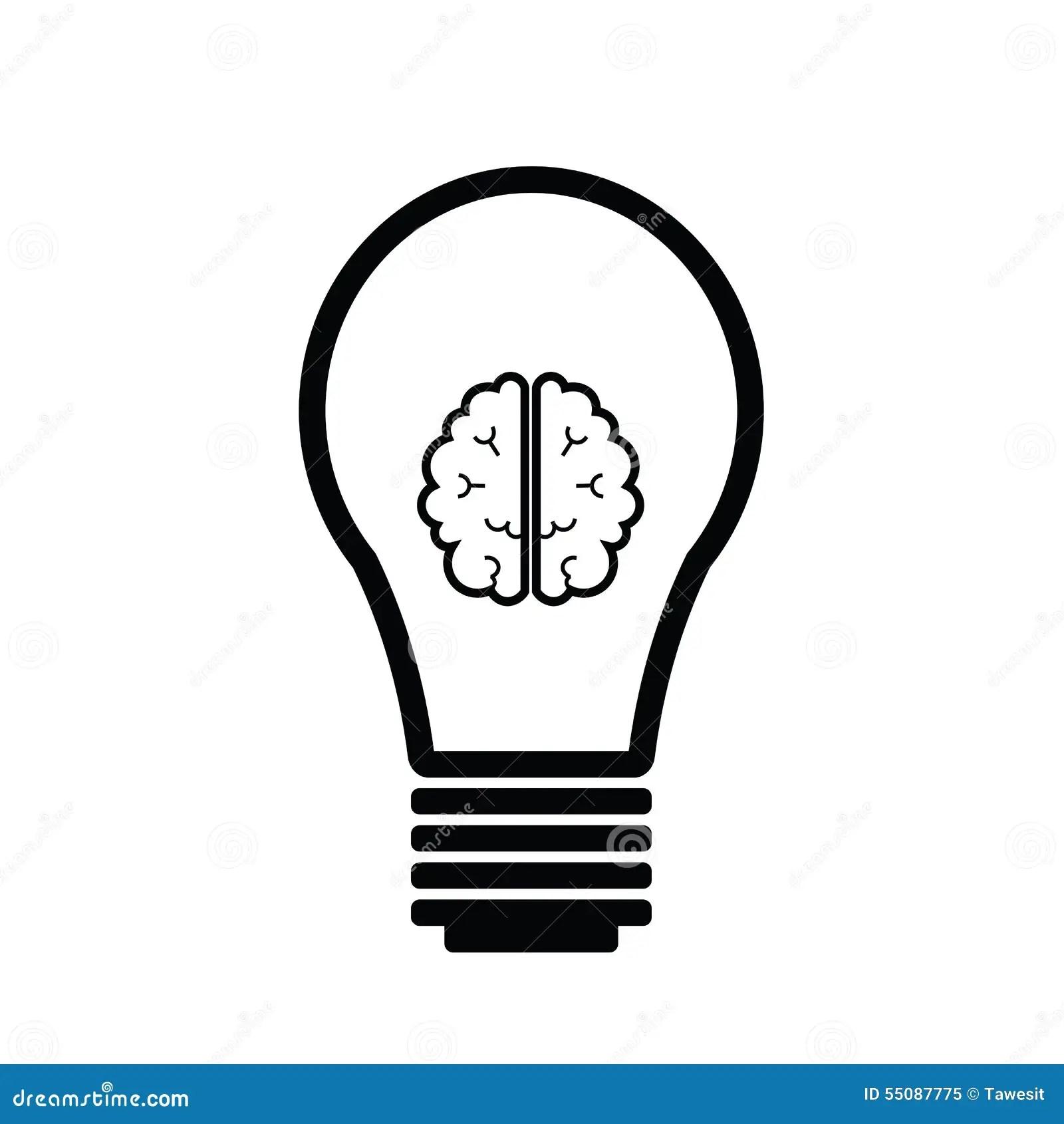 Brain Idea Stock Vector Illustration Of Lamp Background