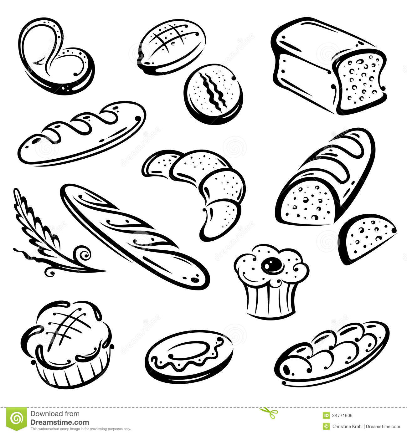 Bread Breakfast Stock Vector Illustration Of Cook