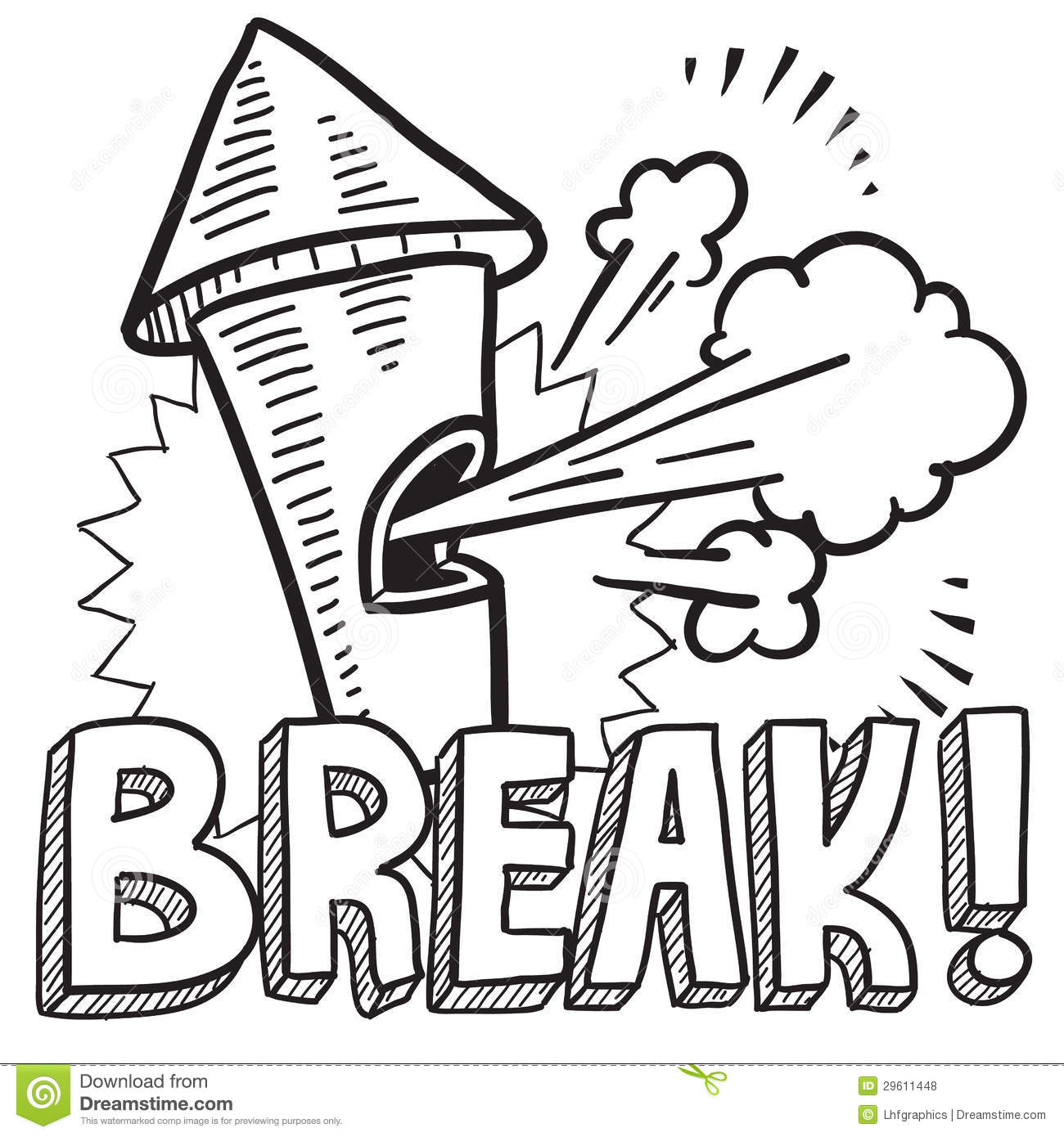 Break From Work Sketch Stock Vector Image Of Relax Leave