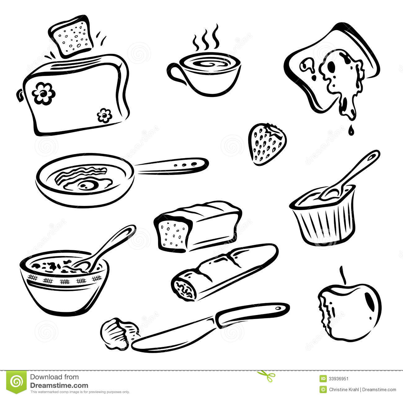 Breakfast Food Stock Vector Illustration Of Breakfast