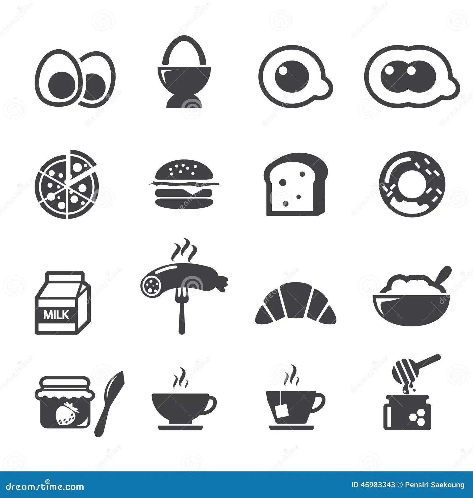 Breakfast Icon Stock Vector Illustration Of Continental