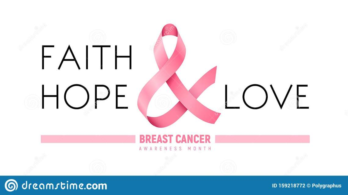 Download Breast Cancer Awareness Month Ribbon. Faith, Hope, Love ...