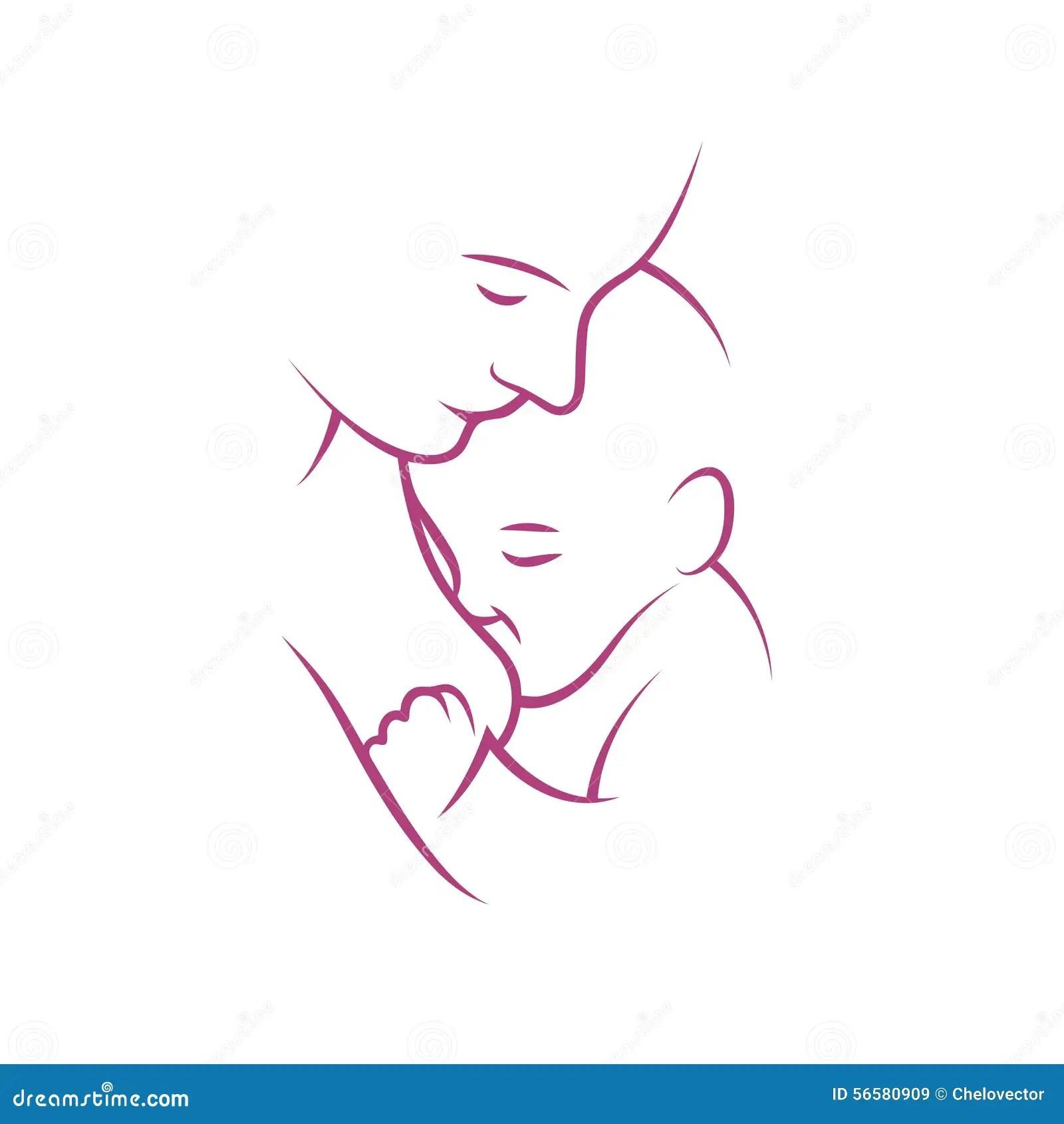 Breast Feeding Vector Sign Stock Vector Illustration Of