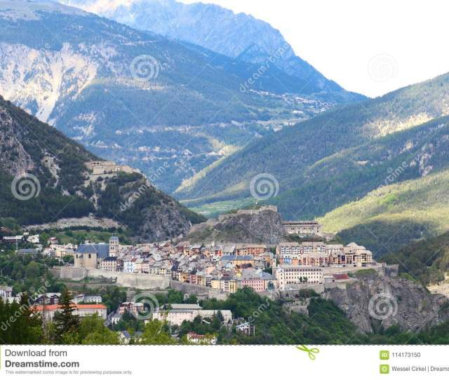 Historical City Of Briancon In Hautes Alpes Valley France
