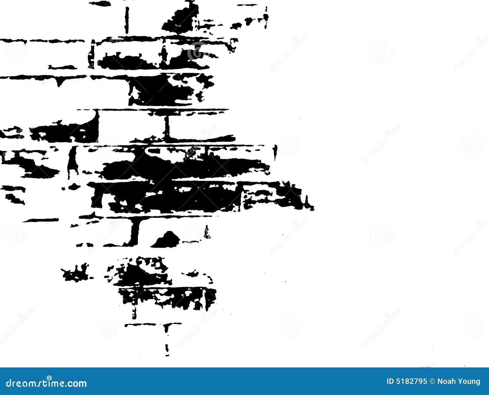 Brick Black And White Illustration Royalty Free Stock