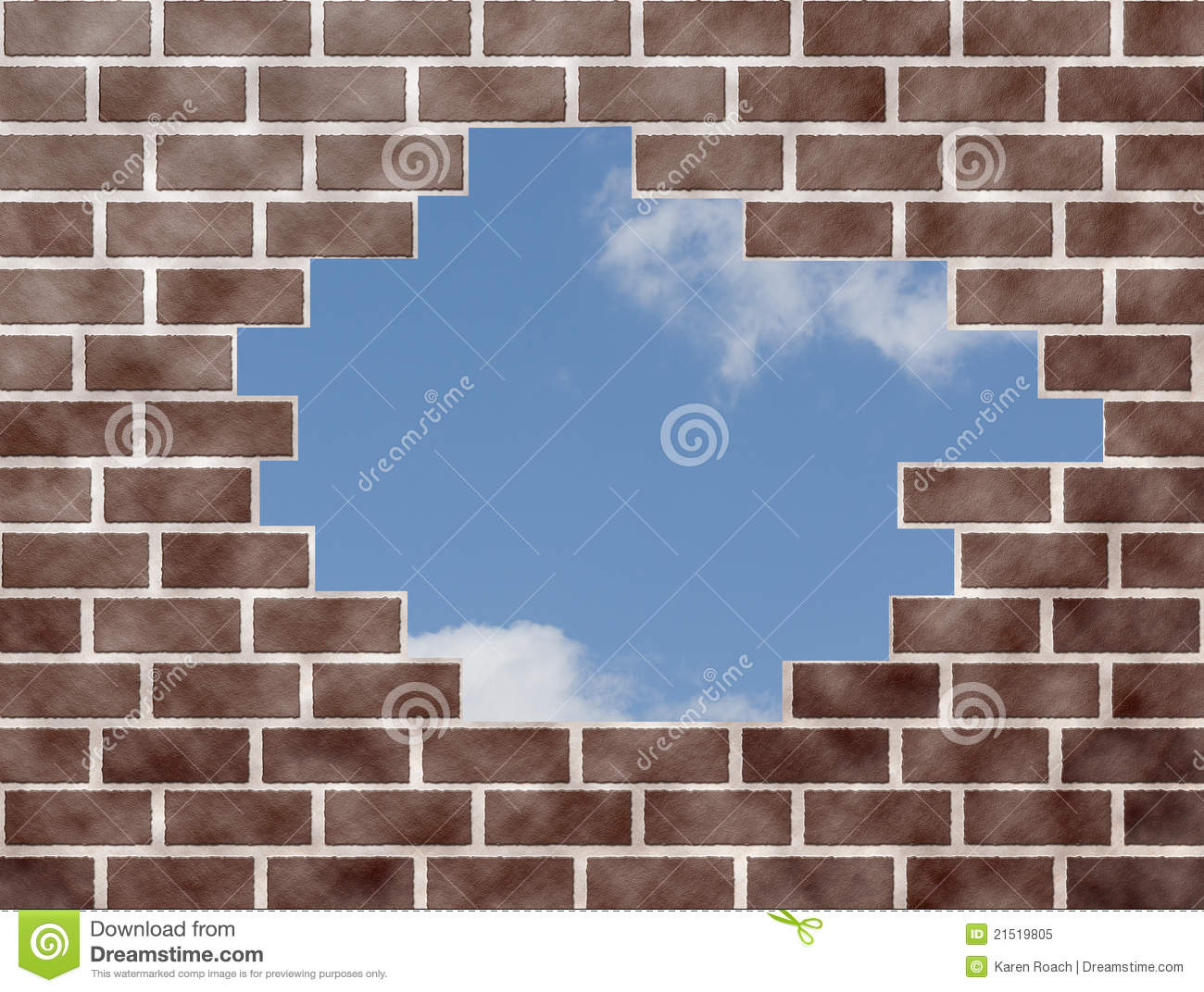 Brick Wall Open To The Sky Royalty Free Stock Photo