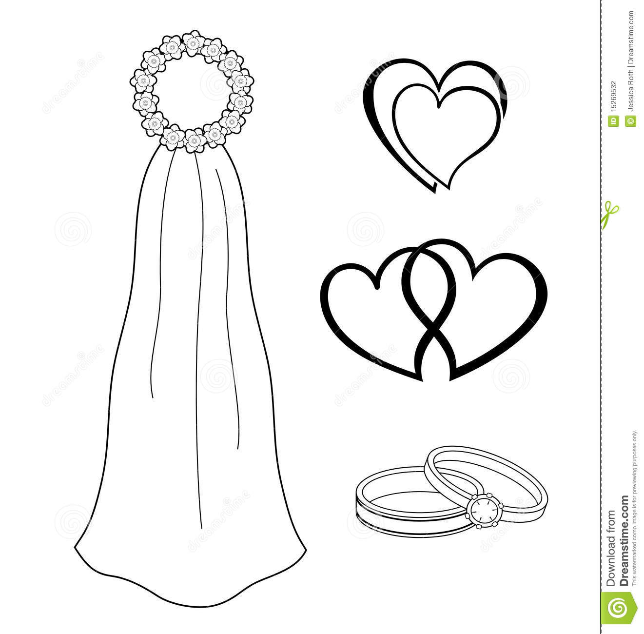 Bridal Symbols Stock Photography