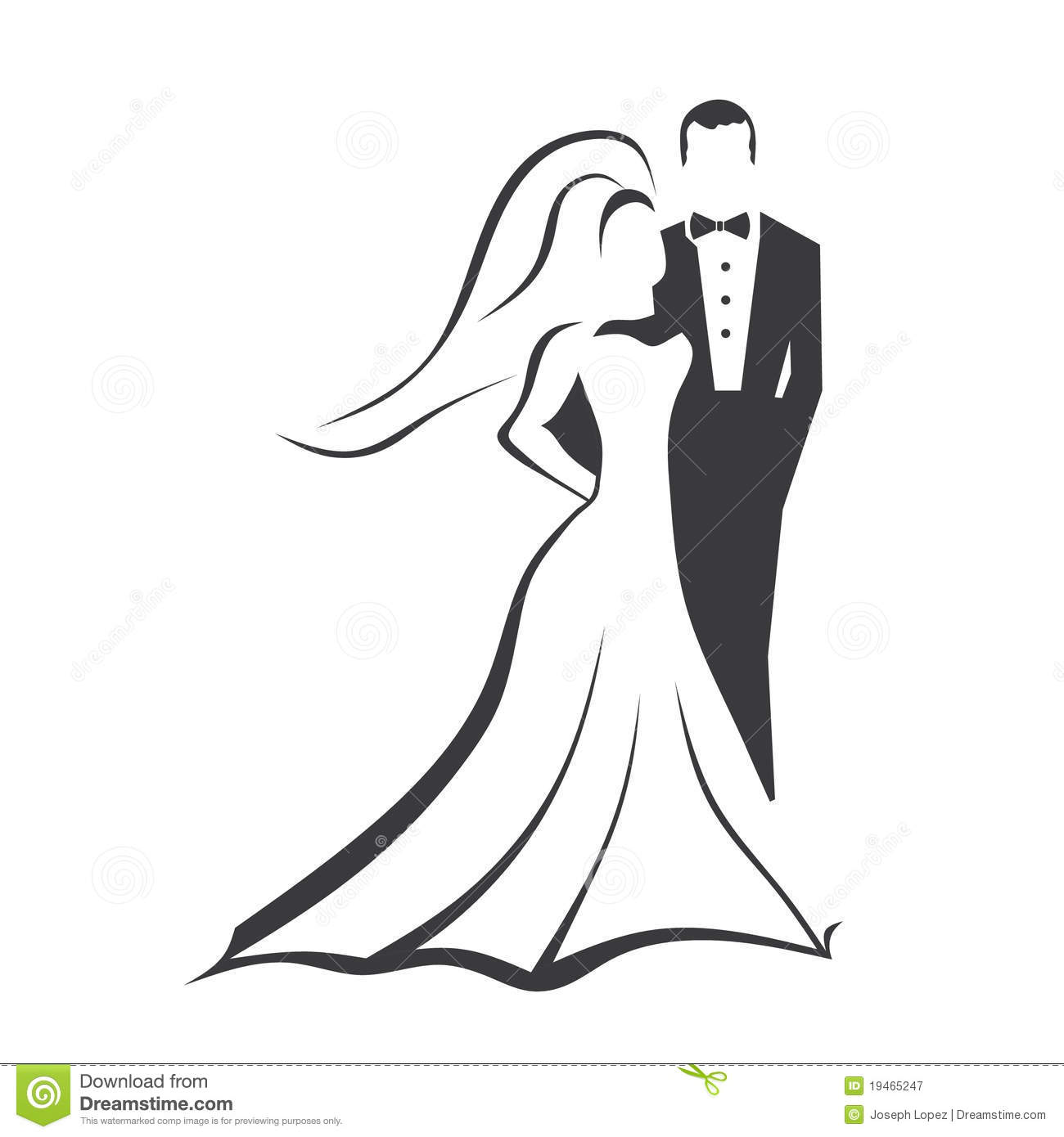 Bride And Groom Stock Vector Image Of Groom Gown