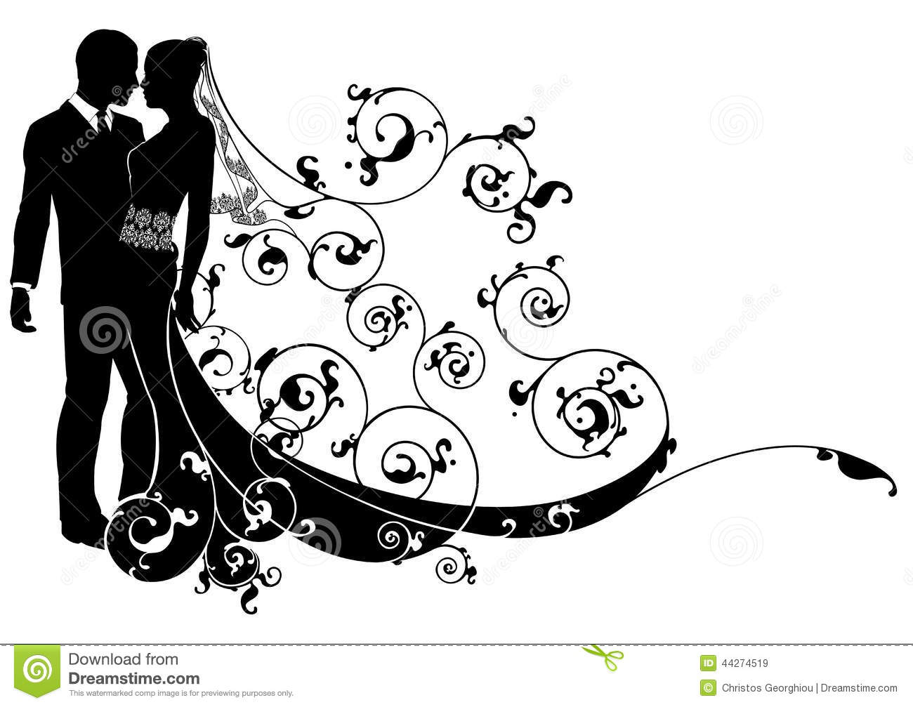 Bride And Groom Concept Stock Vector