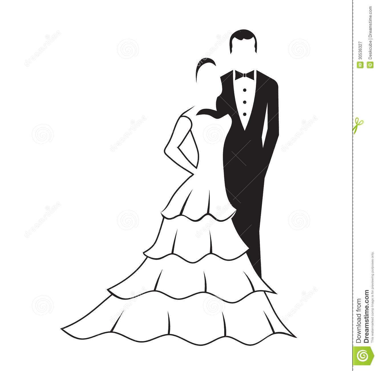 Bride And Groom Logo Royalty Free Stock Photography