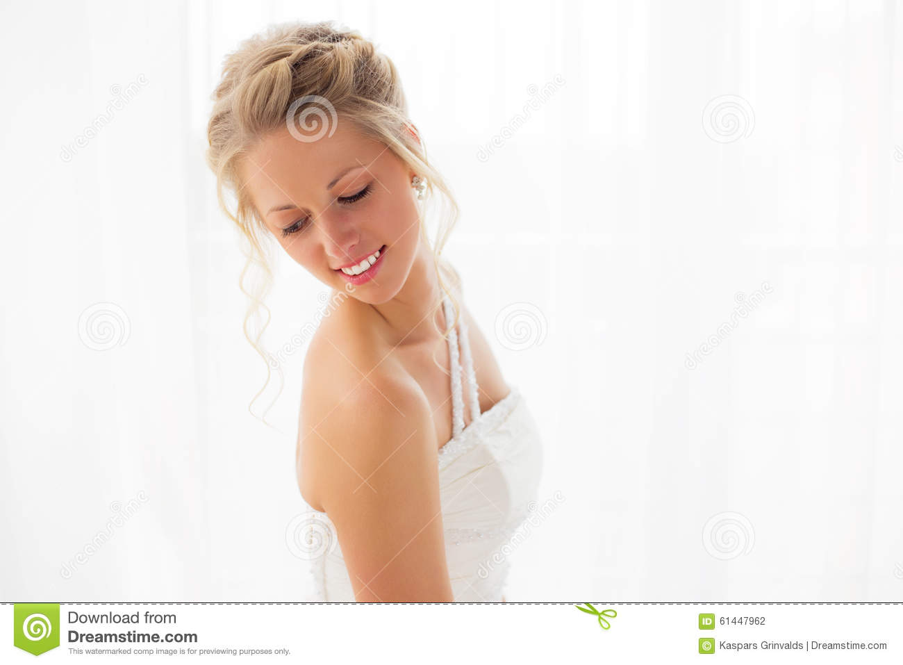 Bride Over Shoulder Stock Photography
