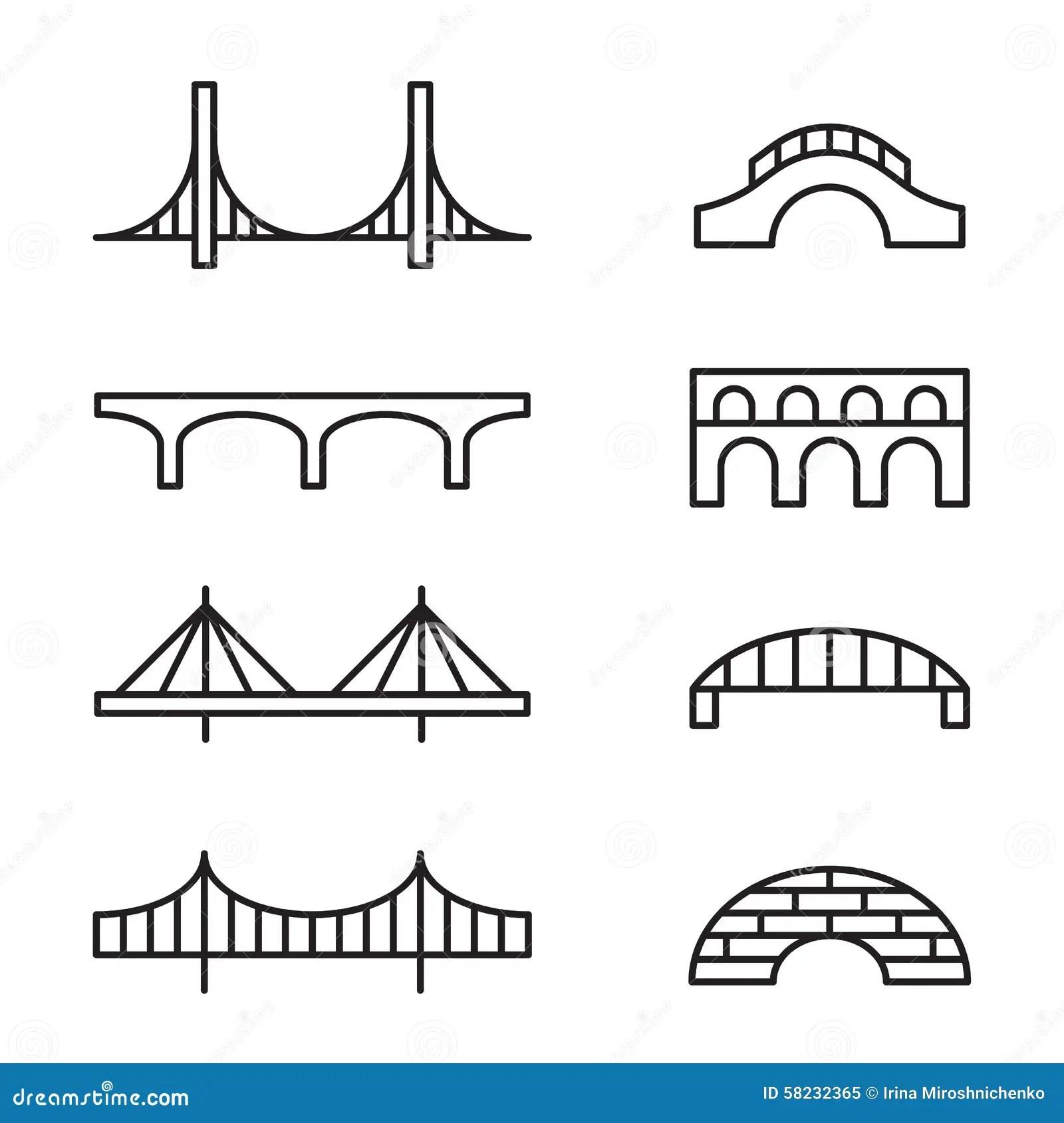 Bridge Icons Stock Vector Illustration Of Simple Design