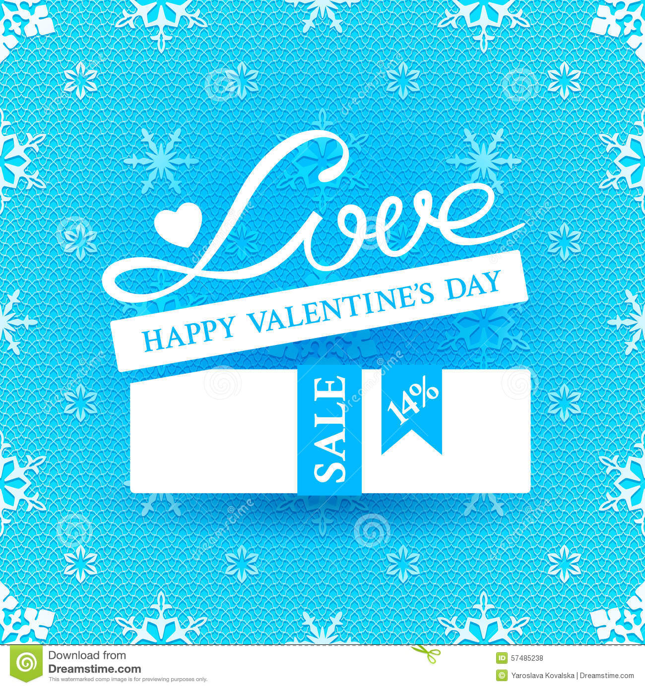 Bright Promotional Banner For Valentines Day Stock Vector