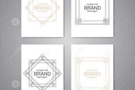 Brochure With Decorative Frame  Flyer Or Book Design With Simple     Brochure with decorative frame  flyer or book design with simple ornamental  border  poster