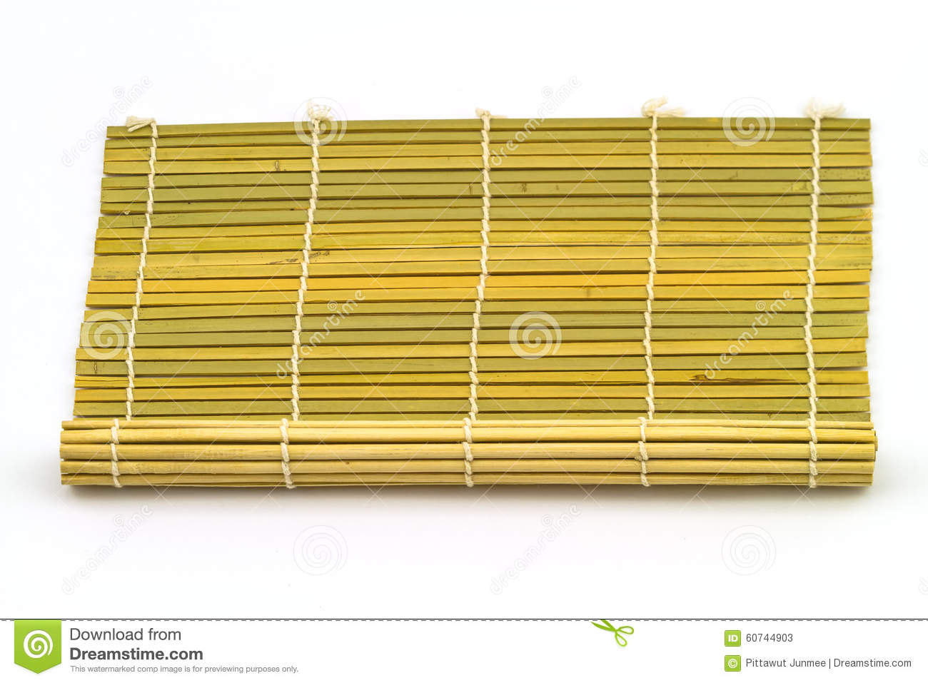 Brown Bamboo Weave For Roll Of Sushi Use For Background