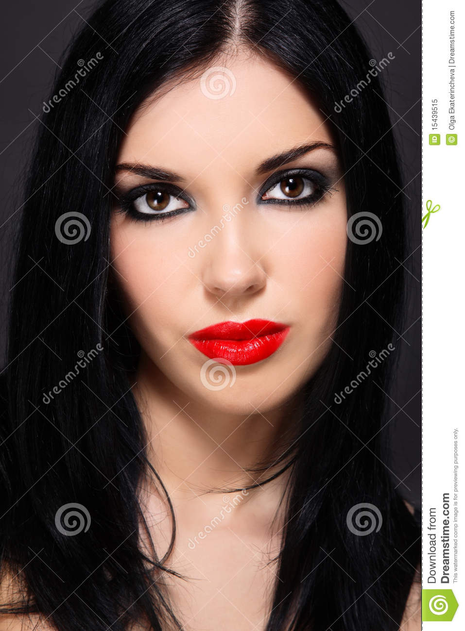 Brunette With Red Lips Royalty Free Stock Photo Image