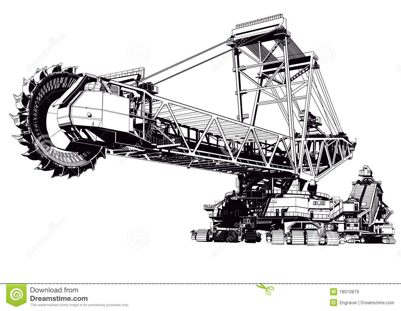 Bucket Excavator Royalty Free Stock Image